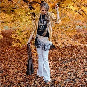 Denim - White flare pants